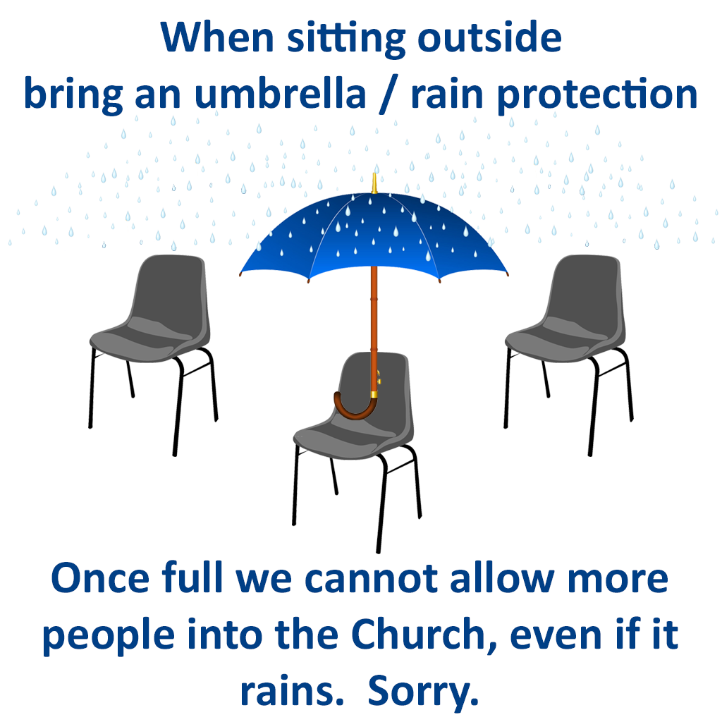Umbrella needed when sitting outside